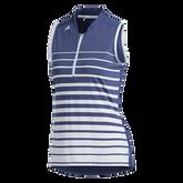 Alternate View 8 of Striped Sleeveless Polo Shirt