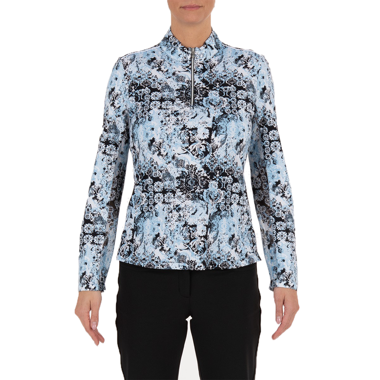 Lady Floral Livcool Quarter Zip Pull Over