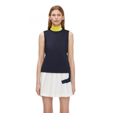 Lou Sleeveless Contrast Collar Golf Top