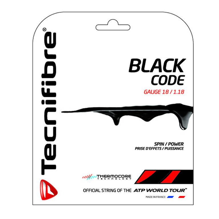 Tecnifibre Black Code 18 Gauge String Set - Black