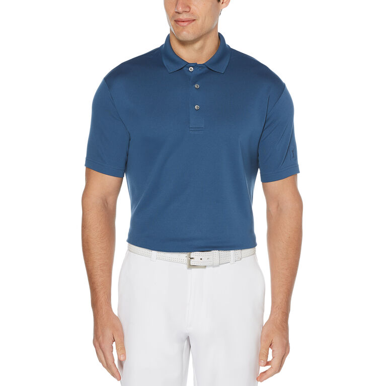 Airflux Solid Mesh Short Sleeve Polo Golf Shirt