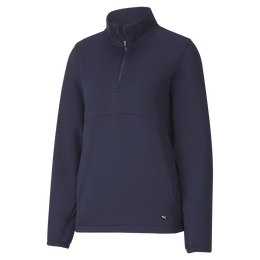 Cloudspun Gathered Back Quarter Zip Pull Over