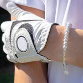 Alternate View 2 of Golf Goddess Silver Stroke Counter Bracelet With Golf Ball Charm