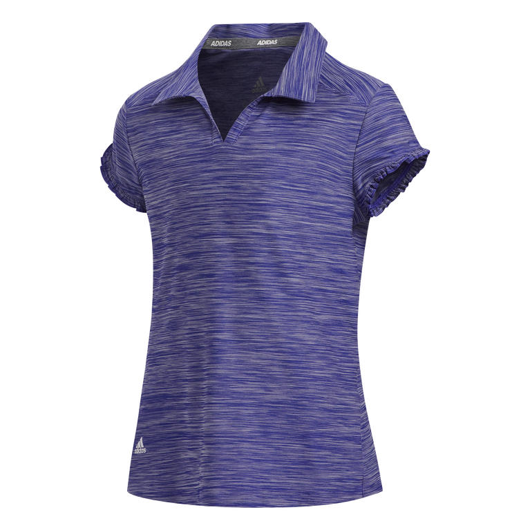 Short Sleeve Space Dyed Girls Polo Short