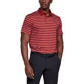 Performance Textured Stripe Golf Polo Shirt