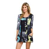Sunsense - 3/4 Sleeve Comic Dress