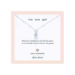 CC Sport Silver Golf Ball Charm Necklace for Little Girls & Tweens