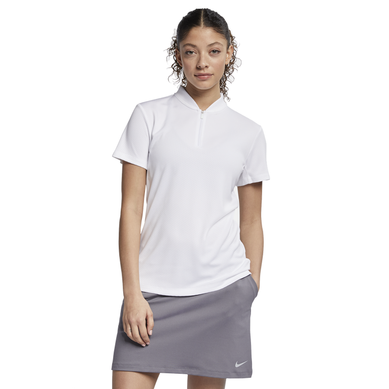 Short Sleeve Blade Zip Neck Polo