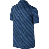 Alternate View 1 of Girls Short Sleeve Diagonal Stripe Polo