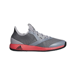 adizero Defiant Bounce Men's Tennis Shoe - Grey/Red