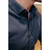 Alternate View 5 of Ludlow Solid Navy Dress Shirt