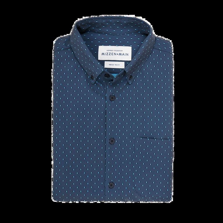Rosler - Navy Print Short Sleeve Button-Down