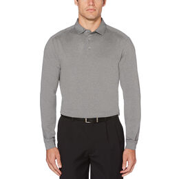 PGA TOUR Long Sleeve Motion Flux Heathered Polo