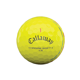 Chrome Soft X LS Triple Track Yellow Golf Balls - Personalized