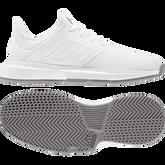Alternate View 1 of GameCourt Men's Tennis Shoe - White/Grey