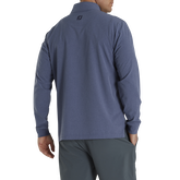 Alternate View 1 of Tonal Print Woven Quarter-Zip Mid-Layer Pullover