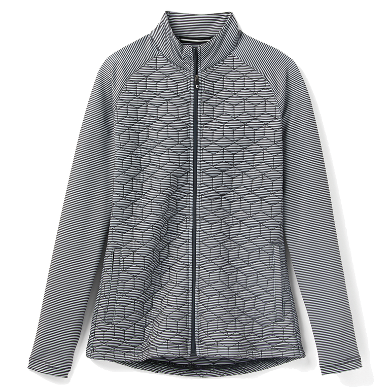 Quilted Hybrid Full Zip Jacket