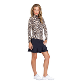 Alternate View 1 of Animal Instincts Collection: Tatianna Cheetah Print Quarter Zip Pull Over