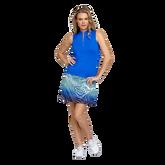 Palm Springs Collection:  Mini Mock Pintuck Sleeveless Shirt
