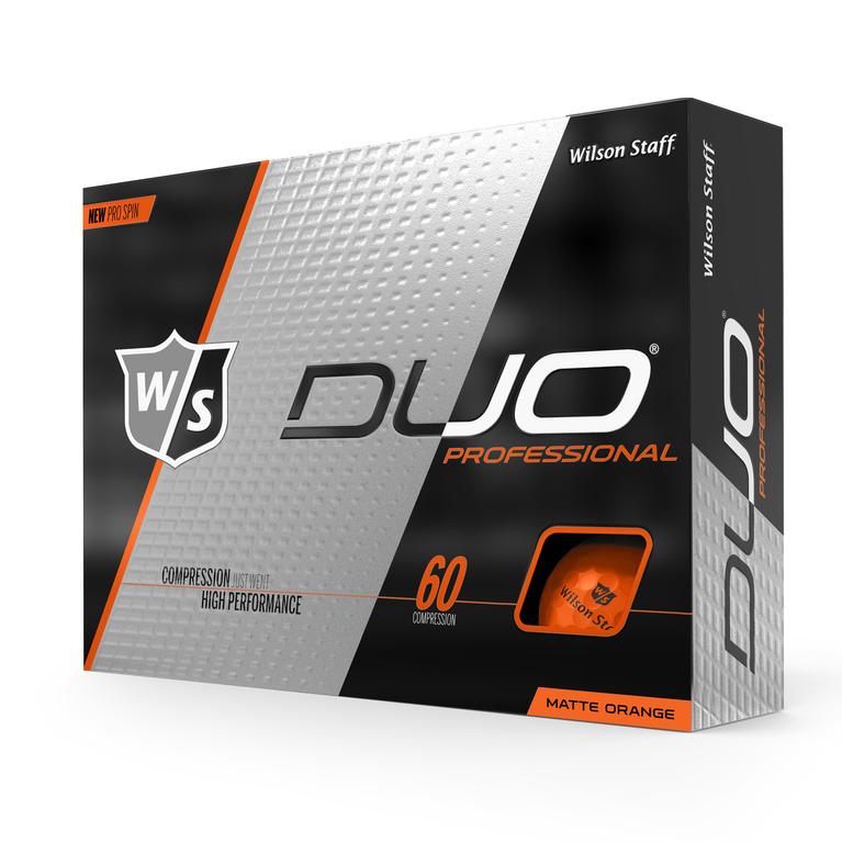 DUO Professional Matte Orange Golf Balls