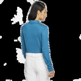 Dri-Fit Long Sleeve Striped Polo Shirt