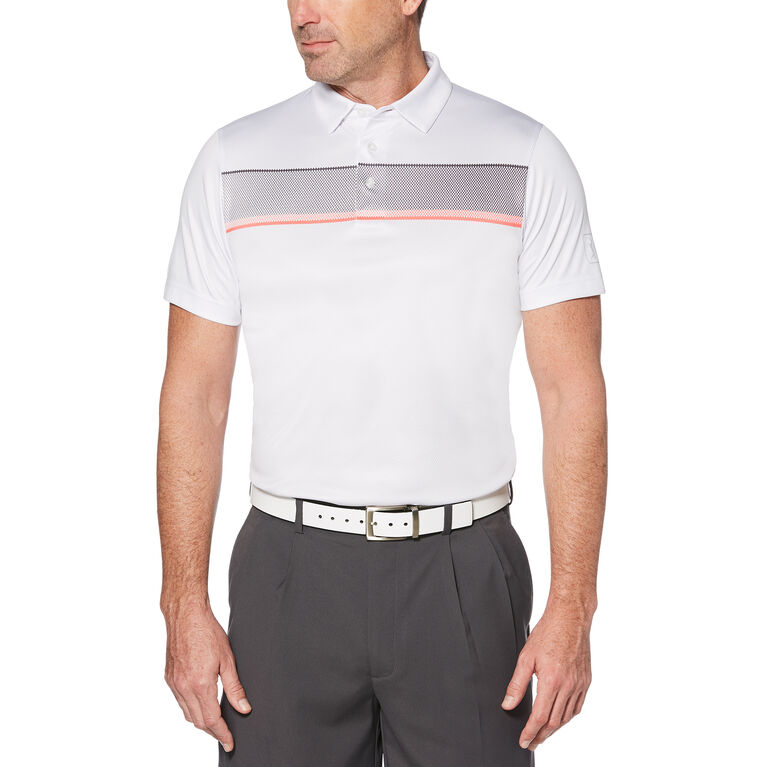 PGA TOUR Stacked Gradient Mesh Print Polo