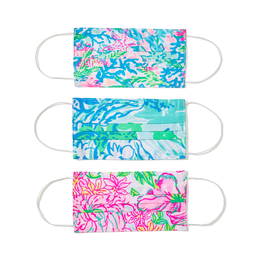 3 Pack Printed Face Masks