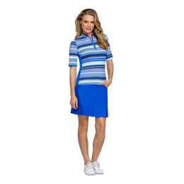 Palm Springs Collection: Isa Elbow Sleeve Striped Mock Neck Top