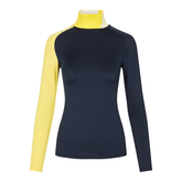 Alternate View 5 of Clemence Soft Compression Color Block Mock Neck Shirt