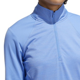 Alternate View 6 of Minted Blues Collection: Half-Zip Solid Pull Over Jacket