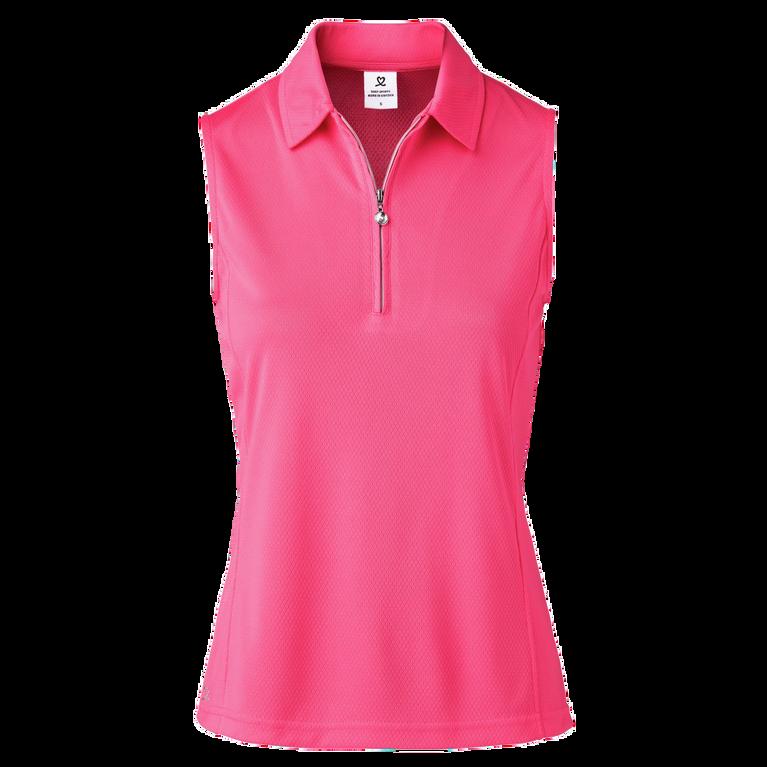 Macy Sleeveless Zip Polo Shirt