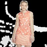 Floral Print Sleeveless Breathe Polo Shirt