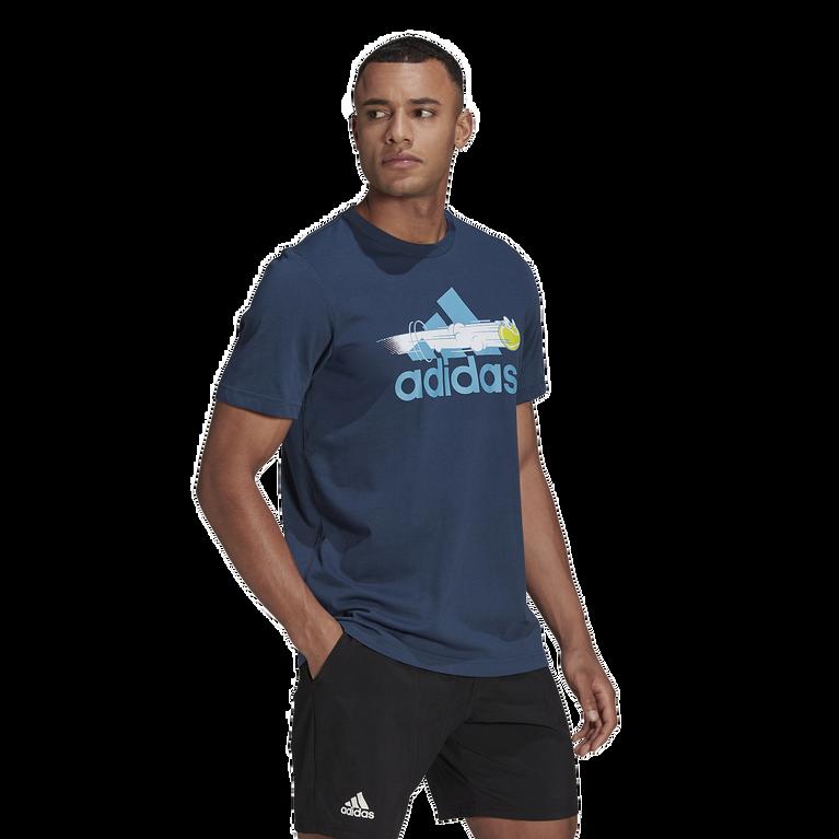Men's Graphic Logo Tennis Tee Shirt