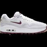 Air Max 1 G Women's Golf Shoe - White/Purple