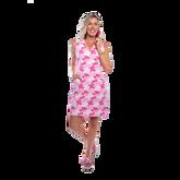 St. Regis Sleeveless Coral Print Dress