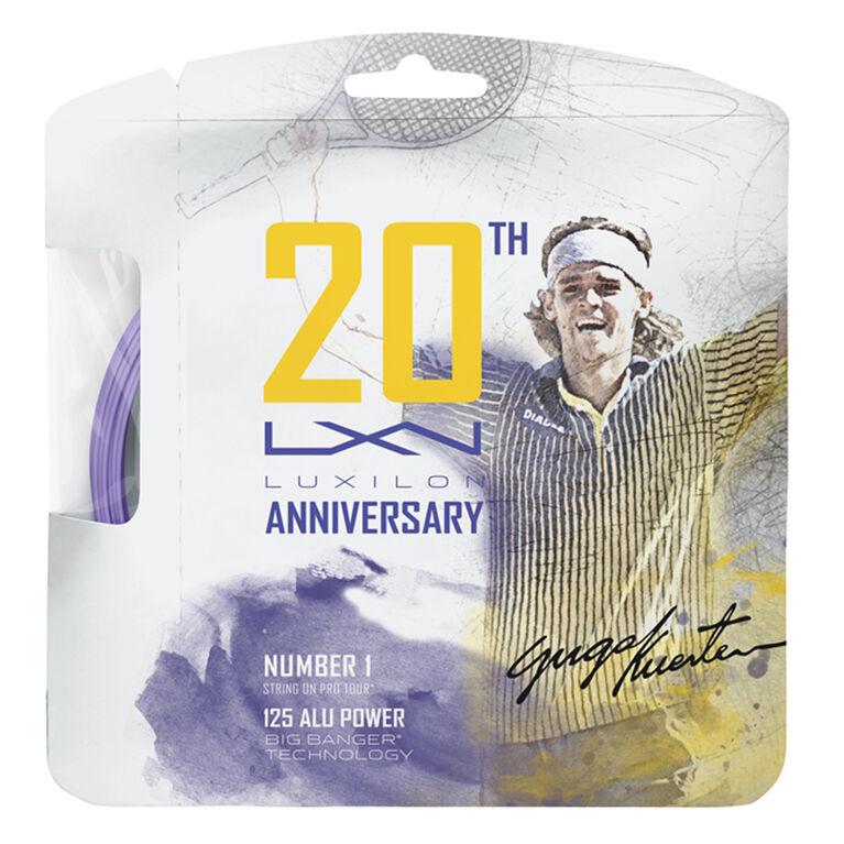 Luxilon ALU Power 125 20th Anniversary Tennis String Set - Purple 16 Gauge