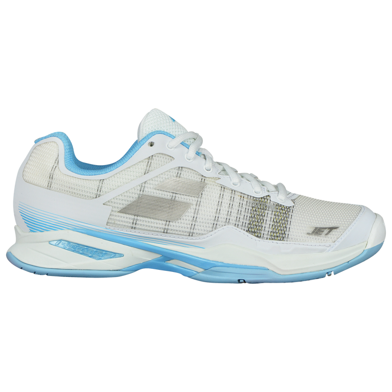Babolat Jet Mach I All Court Women's Tennis Shoe - White/Blue