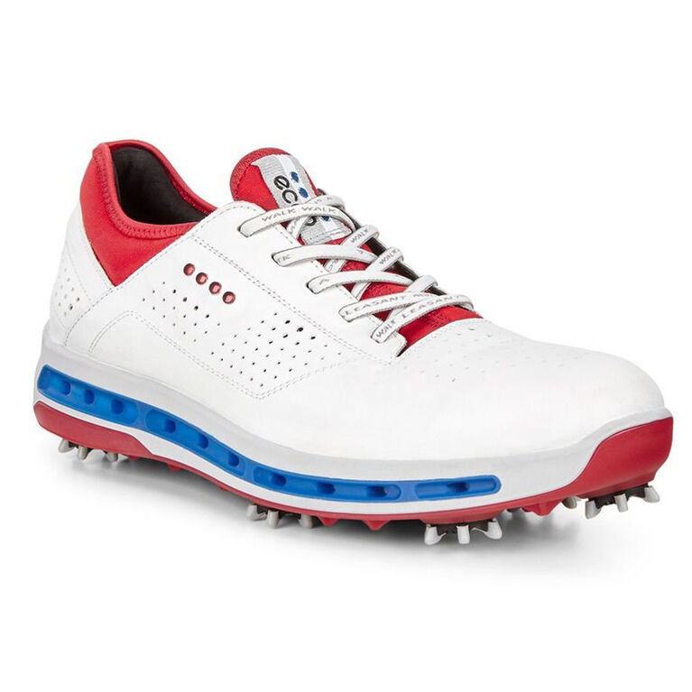 ECCO Cool 18 GTX Men's Golf Shoe - Red/White/Blue