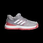 adizero Ubersonic 3.0 Men's Tennis Shoe - Grey/Red