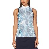 Green Group: Tropic Shades Print Sleeveless Golf Shirt