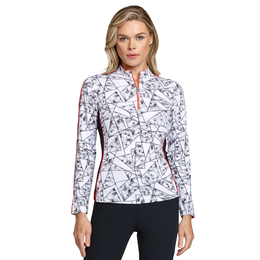 Crimson Chic Group: Lilah Mock Neck Printed Pull Over