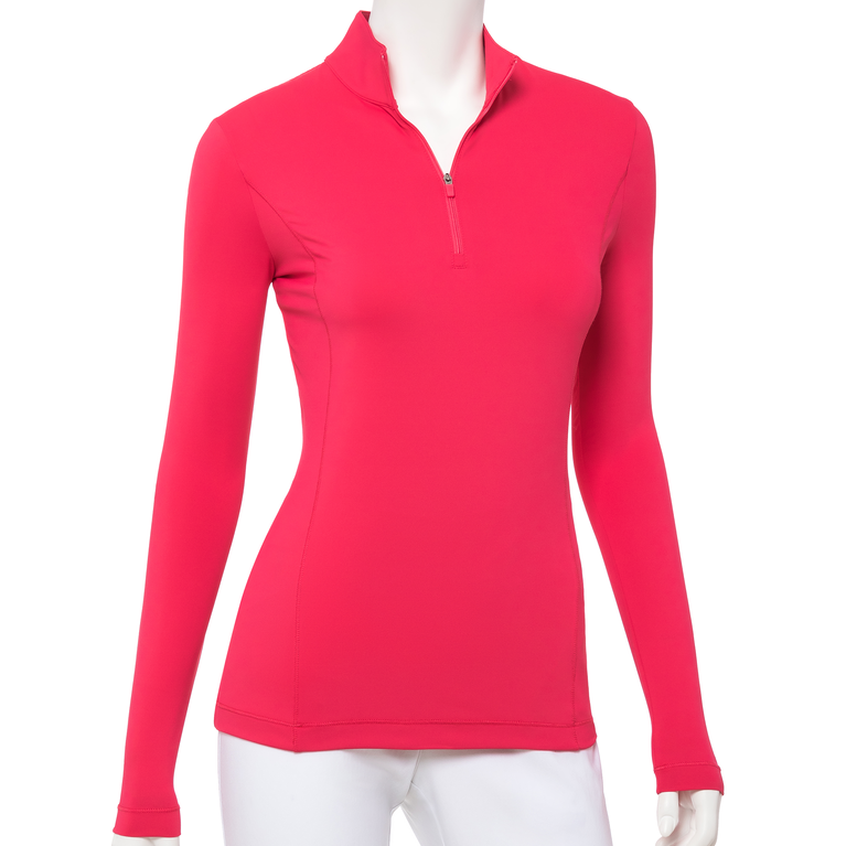 The Gemstones Collection: Long Sleeve Solid Quarter Zip Pull Over