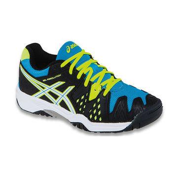 Asics Gel Resolution 6 GS Junior Tennis Shoe BlackBlue