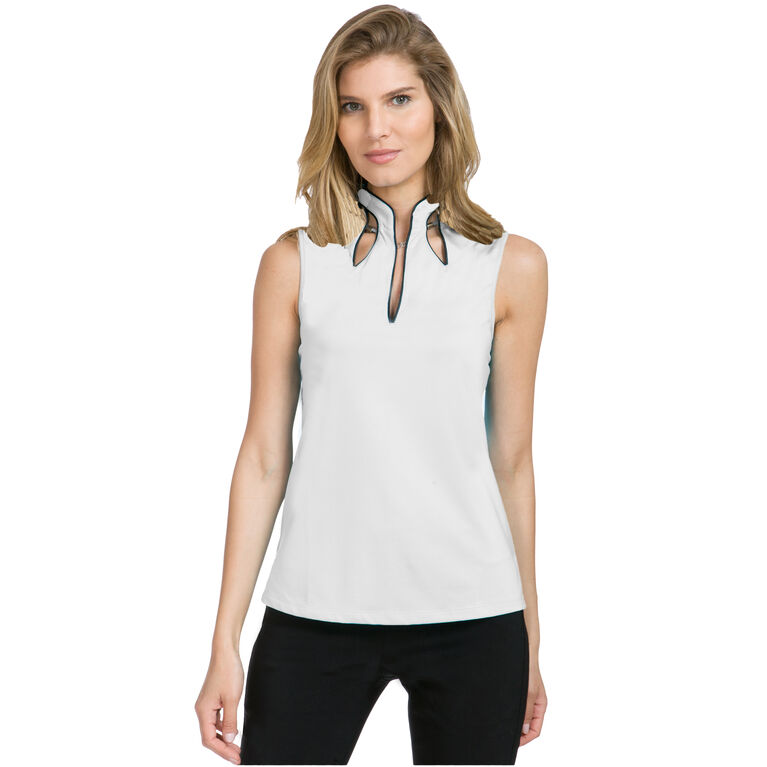 Ultra Group: Sleeveless Solid Cutout Top