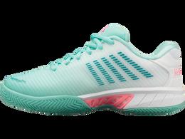 Hypercourt Express 2 Women's Tennis Shoe - Lt Blue/Wht