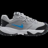 NikeCourt Jr. Lite 2 Kids' Tennis Shoe - Grey/Blue