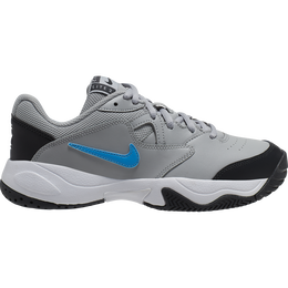 NikeCourt Jr. Lite 2 Kids' Tennis Shoe - Grey/Blue