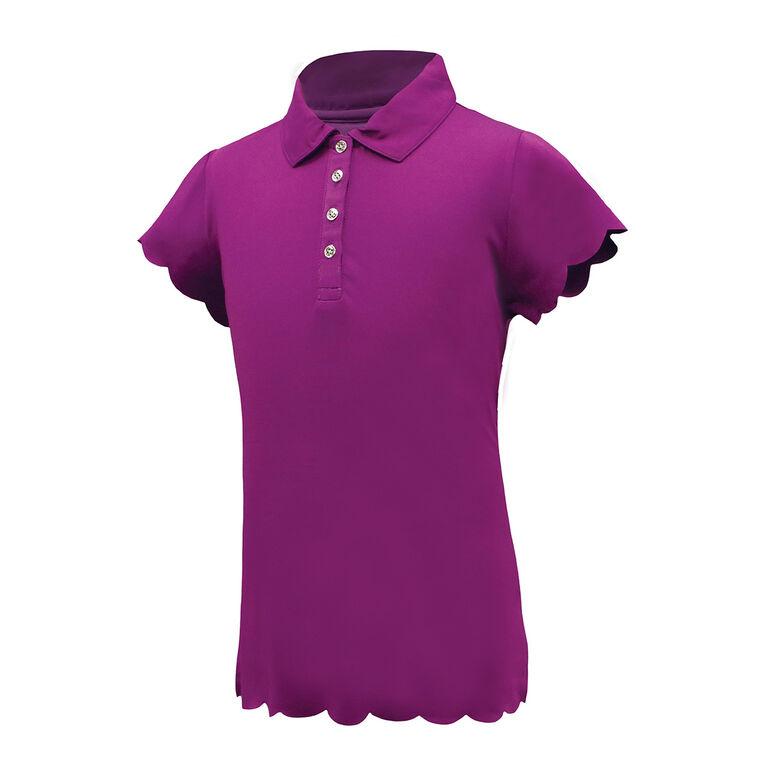 Garb Girls Violet Scalloped Edge Polo