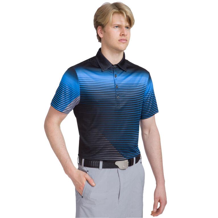 Color V Stripe Polo