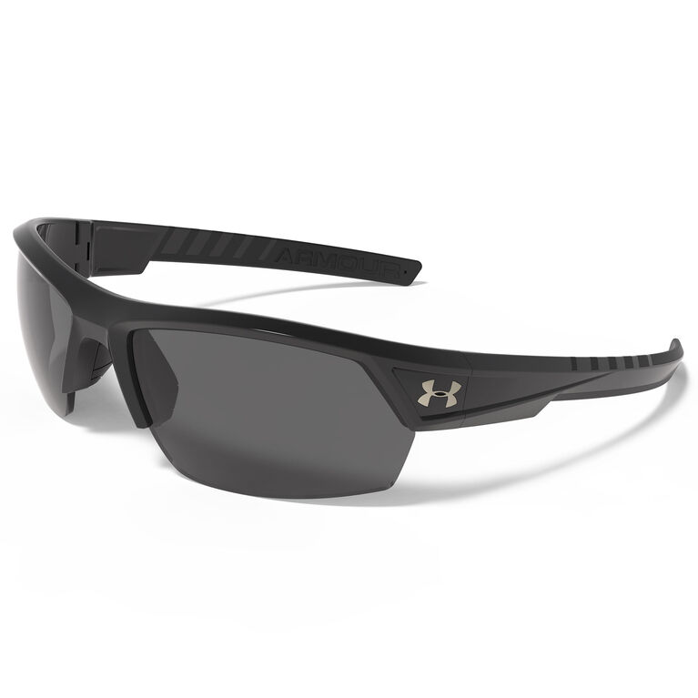 Under Armour Igniter 2.0 Sunglasses - Shiny Black & Black - Gray Lenses